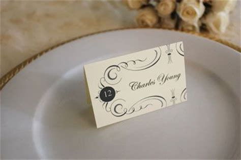 Wedding Place Cards You Can Print For Free Free Wedding Place Card Template