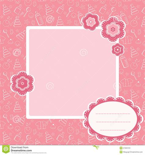 Pink Baby Shower Background by Pink Baby Background Royalty Free Stock Images Image