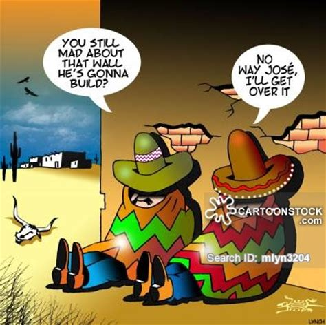 border wall news and political cartoons