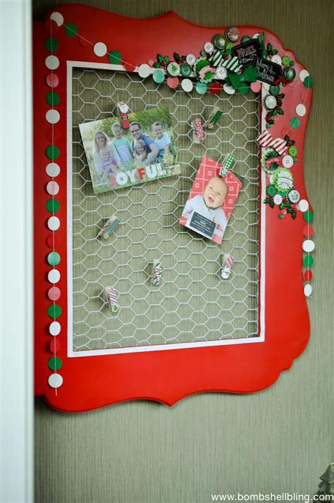 christmas card display chicken wire christmas card display