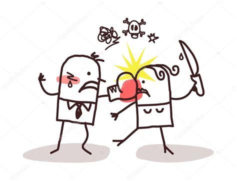 imagenes de violencia de genero en caricatura dibujos animados pareja y violencia fotos de stock