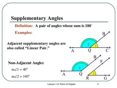 2 supplementary angles m7 lesson 5 1 angles 2