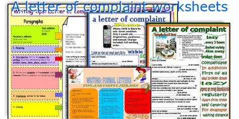 Complaint Letter Lesson Plan esl writing a letter of complaint lesson plan esl lesson