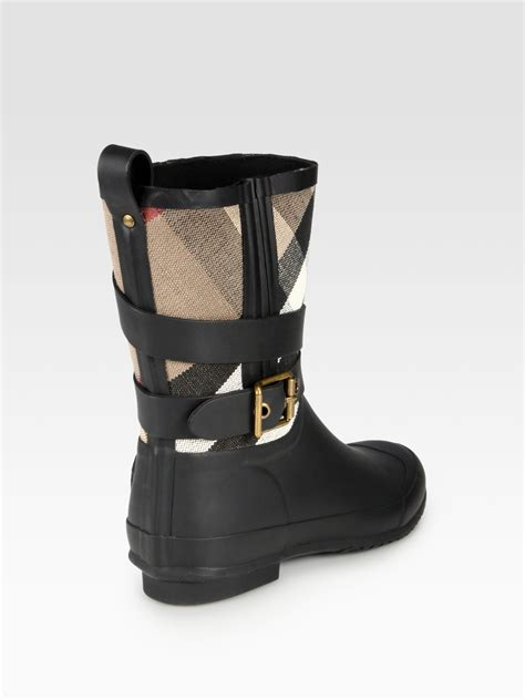 burberry boots burberry holloway canvas boots in black lyst