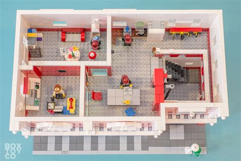 lego house floor plan lego 174 fire station moc boxtoy co