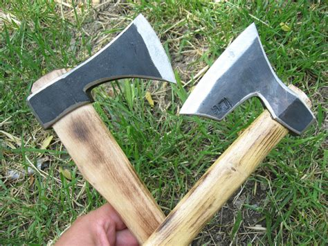 set  forged bearded throwing axe viking tomahawk