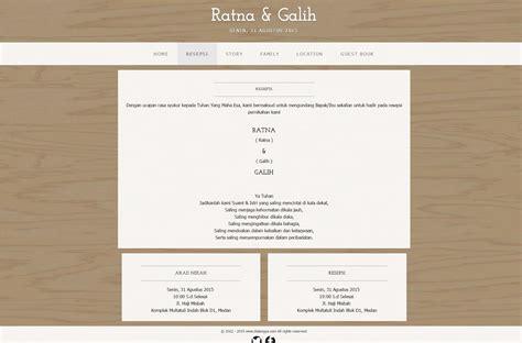 desain undangan resepsi pernikahan model one card simple elegan cetak model desain kartu