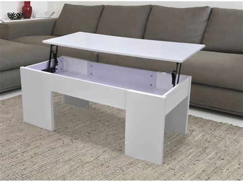 table basse 100 x 50 table basse quot quot 100 x 50 x 43 55 5 cm blanc 68024