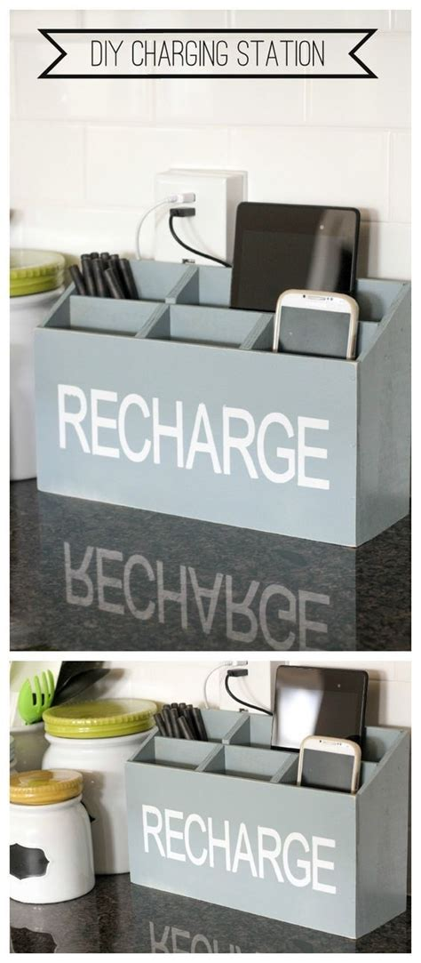 countertop charging station 20 farmhouse kitchen storage ideas hative