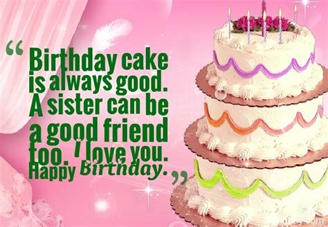 Birthday Cake Quotes And Messages Happy Birthday Wishes For Sister With Cake Clipartsgram Com
