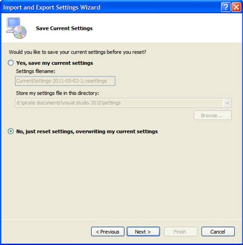 how reset visual studio settings how to solve it workday how to reset the visual studio