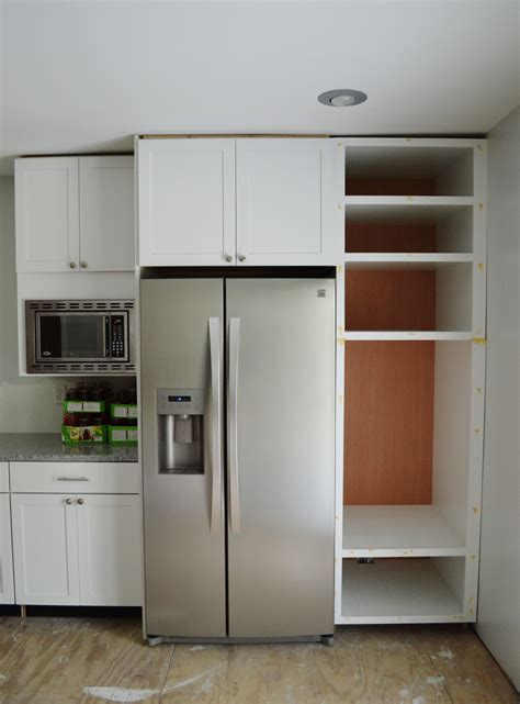 built in refrigerator cabinet because i m just so excited loving here