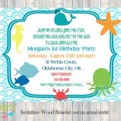 The Sea Invitation Template by The Sea Themed Birthday Invitations Search