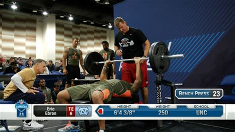 highest bench press in the nfl best of tight ends bench press nfl videos