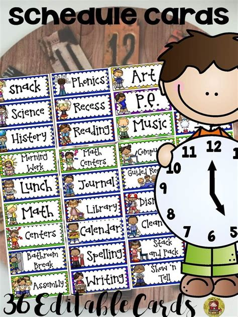 Daily Routine Cards For Preschool