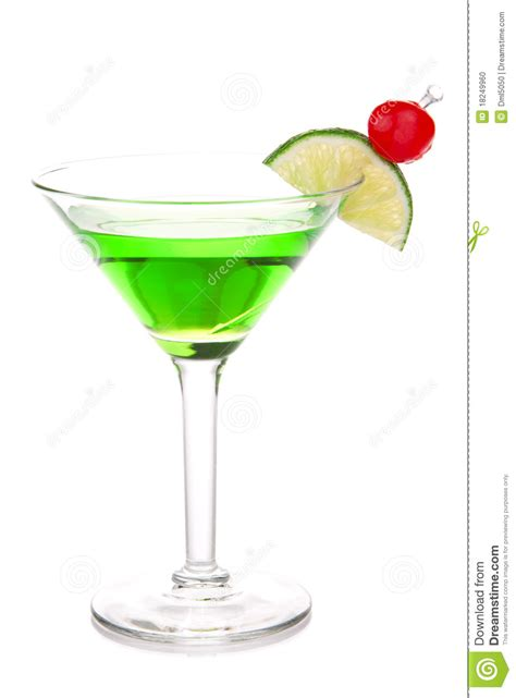 martini green green melon martini cocktail with vodka stock photo