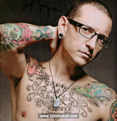devyy tattoo celebrity yakuza tattoos design chester bennington tattoo design on chest celebrity