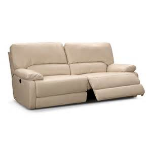 coronado leather power reclining sofa value city furniture