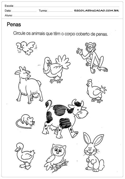 Atividade de Ciências - Circule os Animais - Para Imprimir