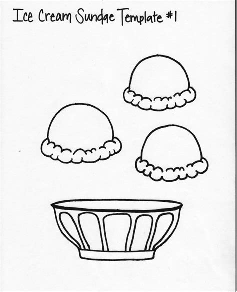 ice cream dish coloring page related keywords suggestions for sundae template