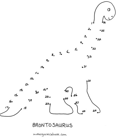 printable dot to dot dinosaurs free coloring pages of dinosaur connect the dots