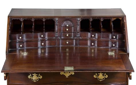 chippendale mahogany desk with hitheater interior