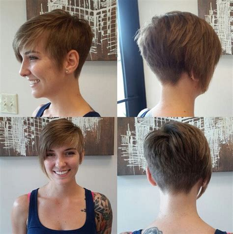 short pixie haircuts with asymmetrical bangs front and side view top 18 short hairstyle ideas popular haircuts