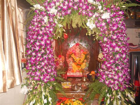 flowers decoration at home eco friendly ganpati decorations interior design ideas