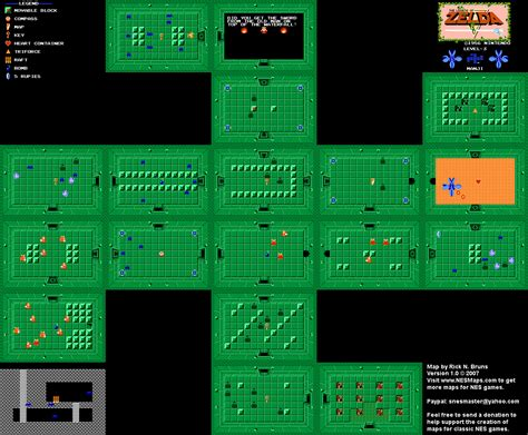 legend of zelda map nes walkthrough the legend of zelda level 03 quest 1 map png