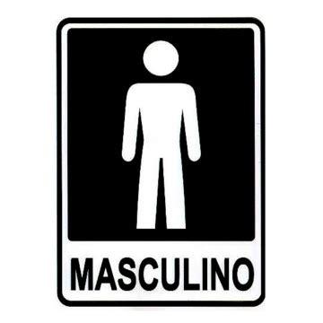 placa banheiro masculino acesso placas e sinalizações