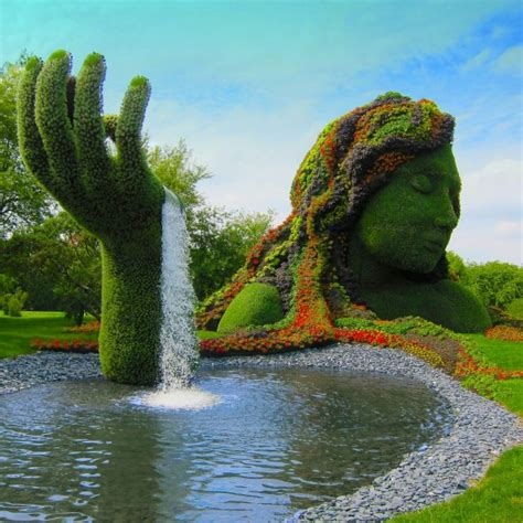 Montreal Botanical Gardens by Topiary At Montreal Botanical Gardens Graphic Ashen