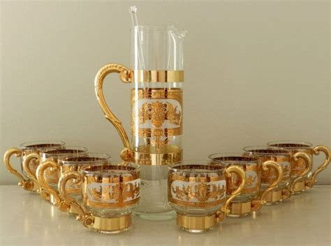 classic barware vintage barware cocktail glasses set martini pitcher