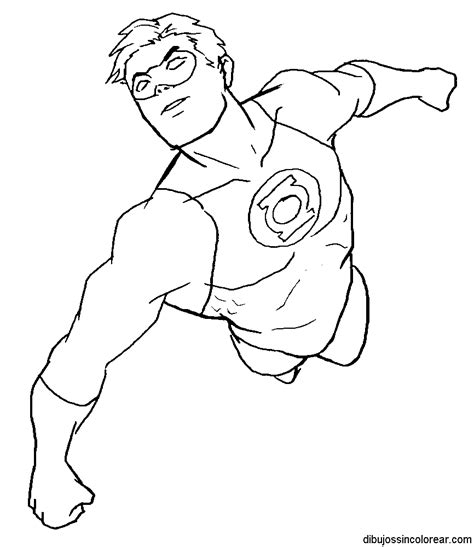 imagenes de superheroes faciles para dibujar dibujos de linterna verde para colorear