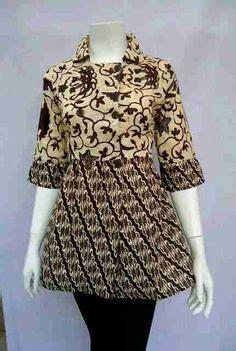 Blus Batik Sogan Halus blouse batik kantor wanita larisa sogan bahan katun batik