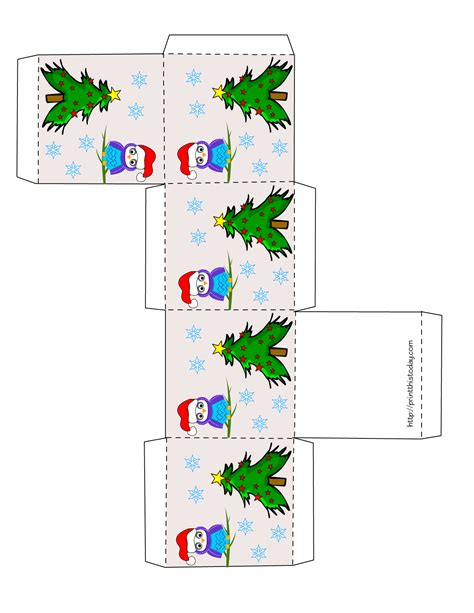 printable christmas tree gift boxes owl christmas printable stationery bookmarks candy