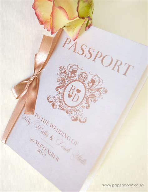 wedding invitation design johannesburg passport wedding invitation design vintage