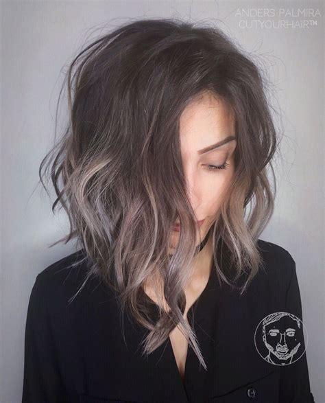dark brown shag cut with highlights aveda wavy long blonde bob short hair beach wave medium