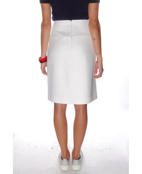 jil sander navy white a line skirt in white lyst