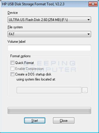 format cd to usb download hp usb disk storage format tool