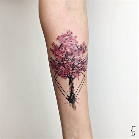 cherry blossom wrist tattoo cherry blossom yeahtattoos