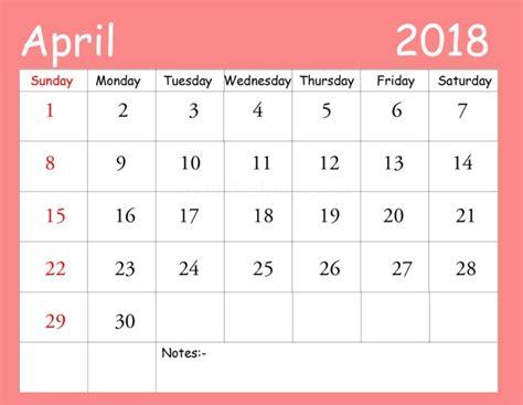 april 2018 calendar blank template blank template april 2018 calendar 2018
