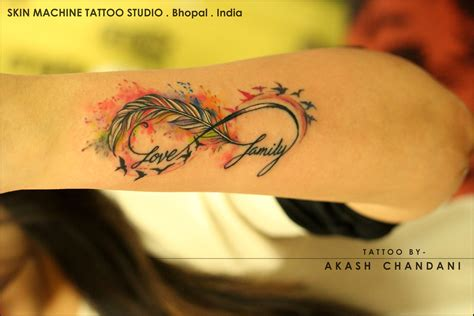 watercolor tattoo infinity another one from today watercolor feather infinity