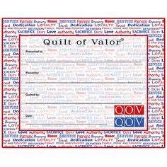 Quilts Of Valor Labels by Quilts Of Valor Fabric Labels Rooster Quilt