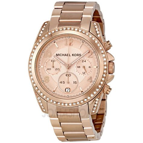 michael kors blair gold tone chronograph