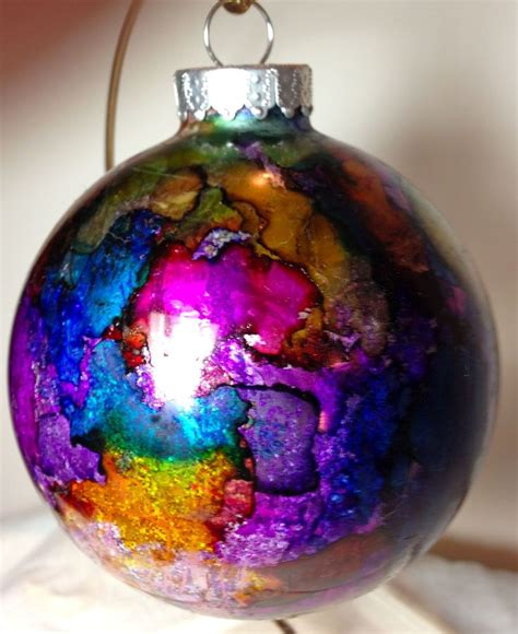 christmas ornaments alcohol ink a collection of other