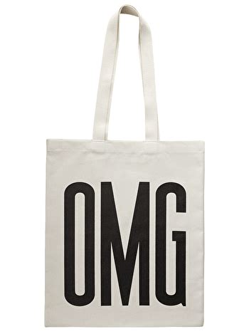 Omg Tote Bag omg typographic bags shop alphabet bags