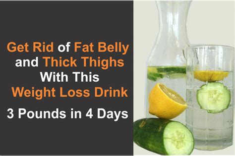 a weight loss drink get rid of belly and thick thighs with this weight