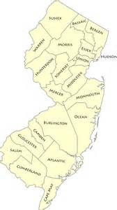 In Nj List Of Counties In New Jersey