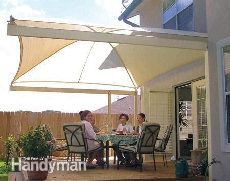 Awning For Patio Do It Yourself by How To Shade Your Deck Or Patio The Family Handyman