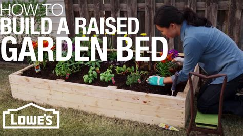 how to build a garden bed how to build a raised garden bed youtube